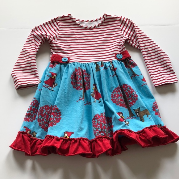 RARE EDITIONS® Little Girls/' 5 Navy Striped Ruffle Leggings Set NWT $56